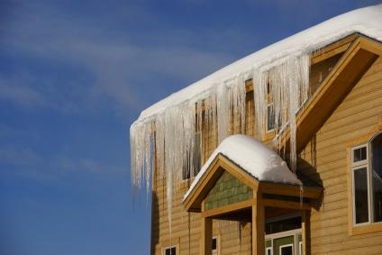 barrages de glace sur maison